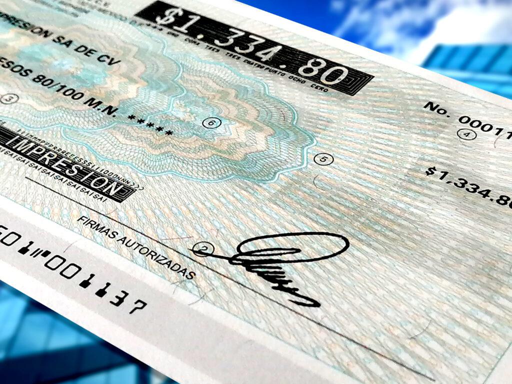 forma de pago cheque electrónico