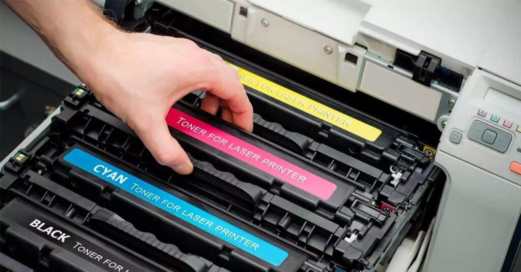 cartuchos de tóner de su impresora.