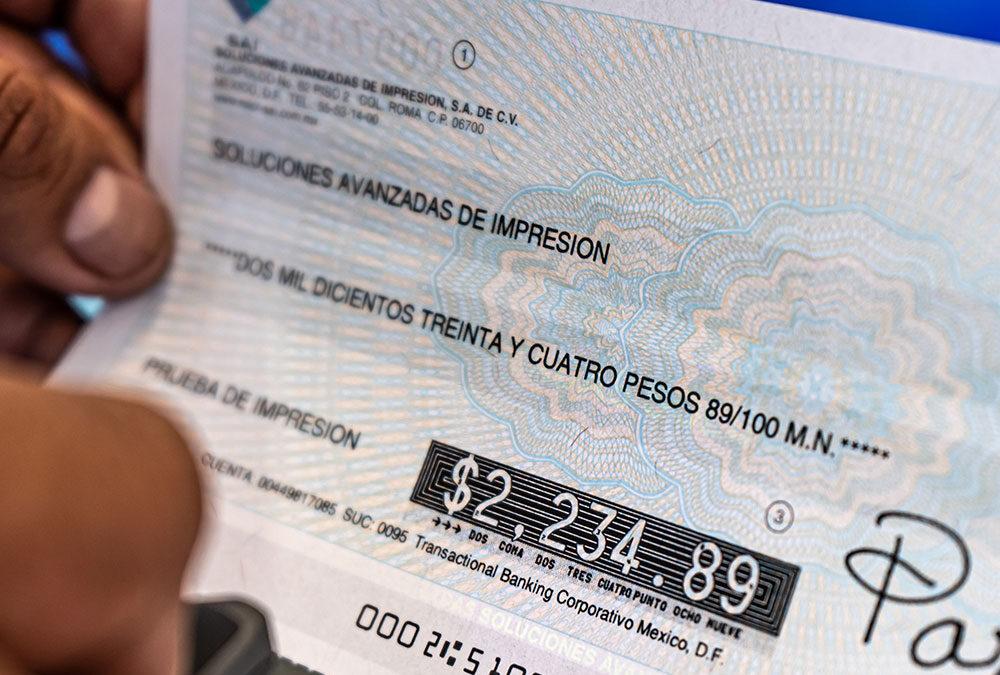 Aumenta la seguridad de tus pagos imprimiendo tus cheques propios con tecnología MICR-SAI